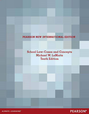School Law: Cases and Concepts (BOK)