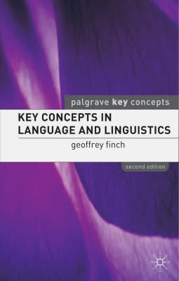 Key Concepts in Language and Linguistics (BOK)