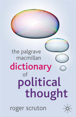 The Palgrave Macmillan Dictionary of Political Thought (BOK)