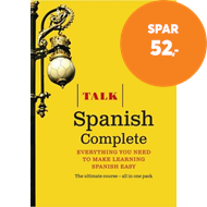 Produktbilde for Talk Spanish Complete (Book/CD Pack) - Everything you need to make learning Spanish easy (BOK)