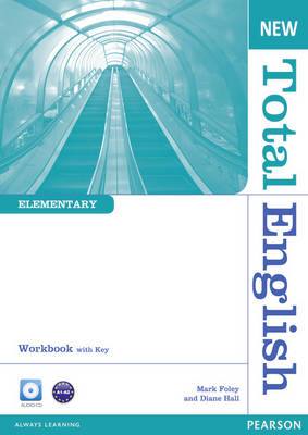 New Total English Elementary Workbook with Key and Audio CD (BOK)