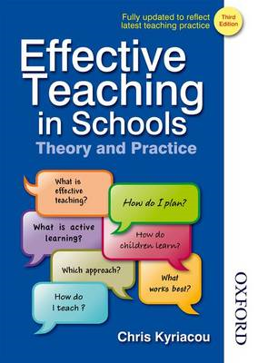 Effective Teaching in Schools Theory and Practice (BOK)