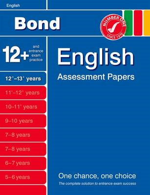 Bond English Assessment Papers 12+-13+ Years (BOK)