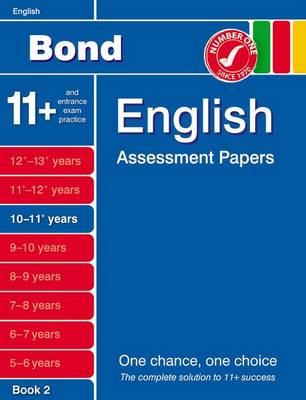 Bond English Assessment Papers 10-11+ Years Book 2 (BOK)
