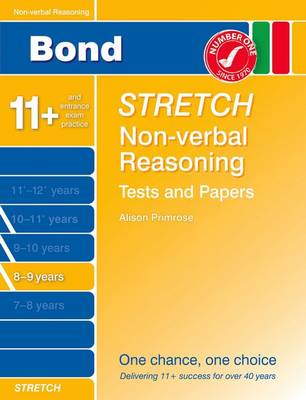 Bond Stretch Non-Verbal Reasoning Tests and Papers 8-9 Years (BOK)