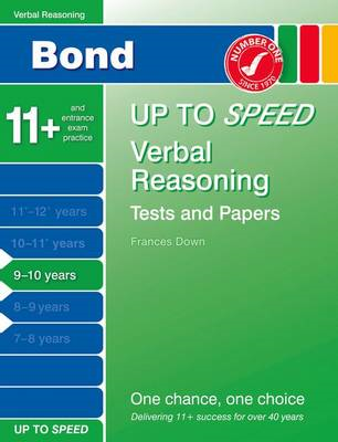 Bond Up to Speed Verbal Reasoning Tests and Papers 9-10 Years (BOK)