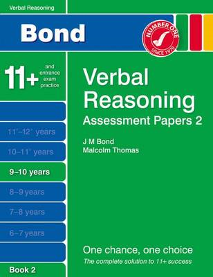 Bond Assessment Papers Verbal Reasoning 9-10 Yrs Book 2 (BOK)