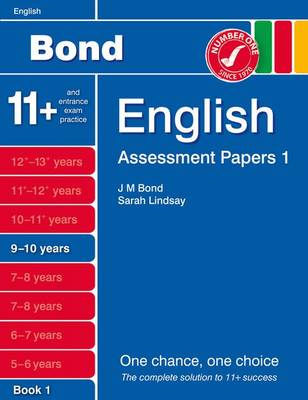 Bond Assessment Papers English 9-10 Yrs Book 1 (BOK)