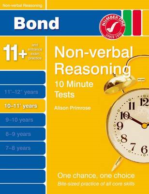 Bond 10 Minutes Tests Non-Verbal Reasoning 10-11+ Yrs (BOK)