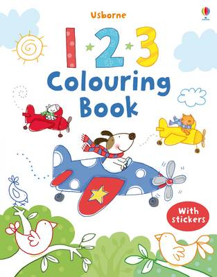 123 Colouring Book with Stickers (BOK)