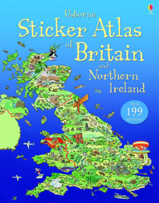 Usborne Sticker Atlas of Britain and Northern Ireland (BOK)