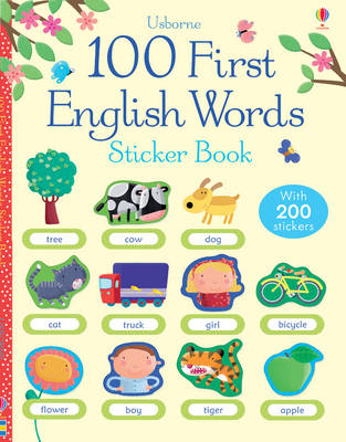 100 First English Words Sticker Book (BOK)