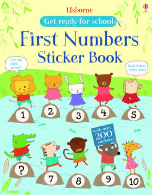 First Numbers Sticker Book (BOK)