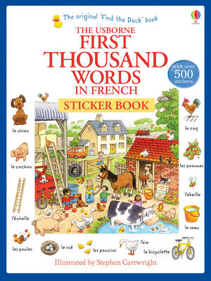 First Thousand Words in French Sticker Book (BOK)