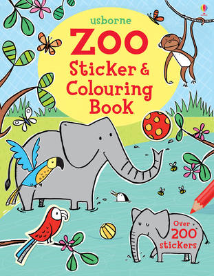 Zoo Sticker and Colouring Book (BOK)