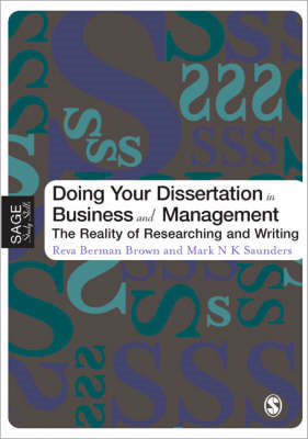 Doing Your Dissertation in Business and Management (BOK)