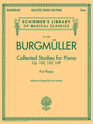 Burgmuller Collected Studies for Piano: Op. 100, 105, 109 for Piano (BOK)