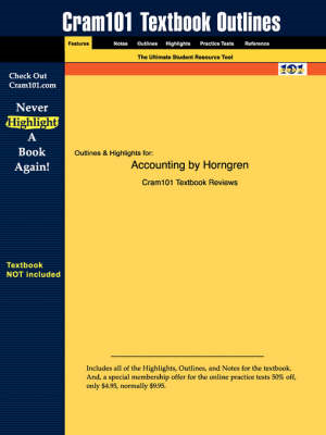 Studyguide for Accounting by Horngren, ISBN 9780131088511 (BOK)