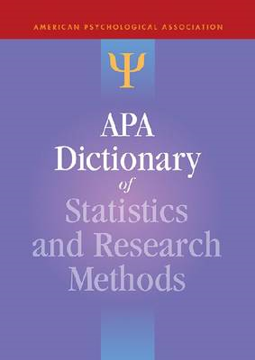 APA Dictionary of Statistics and Research Methods (BOK)