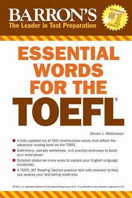 Essential Words for the TOEFL 6th Edition (BOK)