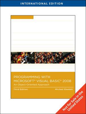 Visual Basic 2008: An Object-oriented Approach (BOK)