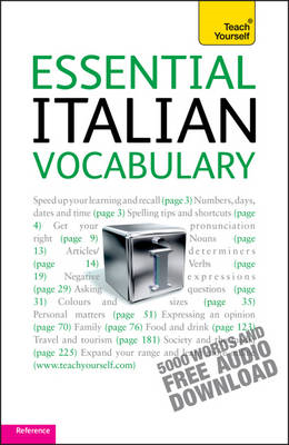 Essential Italian Vocabulary: Teach Yourself (BOK)