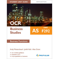 OCR as Business Studies Student Unit Guide: Unit F292 Business Functions: Unit F292 (BOK)