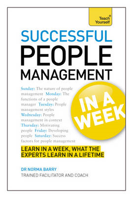 Successful People Management in a Week: Teach Yourself (BOK)