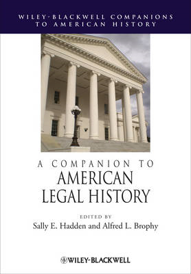 A Companion to American Legal History (BOK)