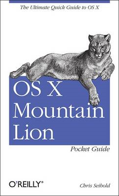 OS X Mountain Lion Pocket Guide (BOK)