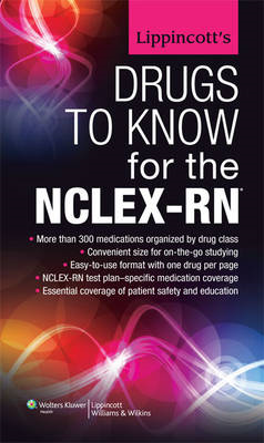 Lippincott's Drugs to Know for the NCLEX-RN (BOK)