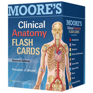 Moore's Clinical Anatomy Flash Cards (BOK)