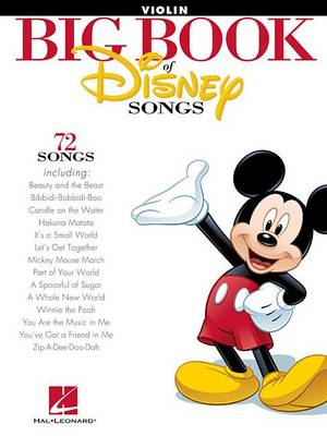 The Big Book of Disney Songs - Violin (BOK)