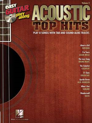 Easy Guitar Play-Along: Acoustic Top Hits: Volume 2 (BOK)