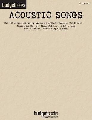 Budget Books: Acoustic Songs (BOK)