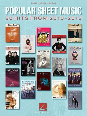 Popular Sheet Music 30 Hits from 2010 to 2013 PVG (BOK)