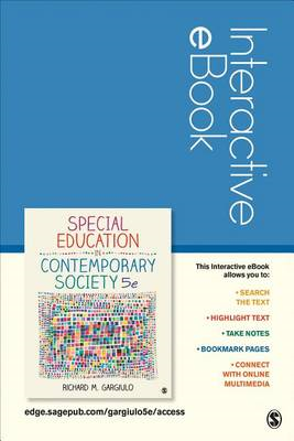 Special Education in Contemporary Society Interactive eBook: An Introduction to Exceptionality (BOK)