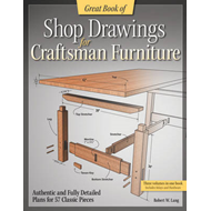 Great Book of Shop Drawings for Craftsman Furniture: Authentic and Fully Detailed Plans for 57 Class (BOK)