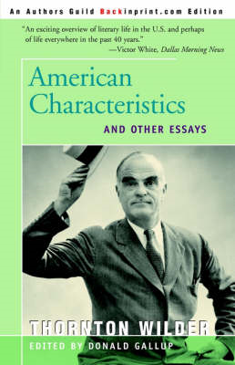 American Characteristics and Other Essays (BOK)