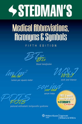 Stedman's Medical Abbreviations, Acronyms & Symbols (BOK)