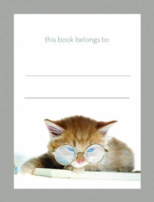 Cat Reading Bookplate (BOK)