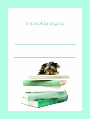 Dog on Books Bookplate (BOK)