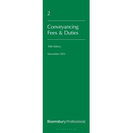 Lawyer's Costs and Fees: Conveyancing Fees and Duties (BOK)