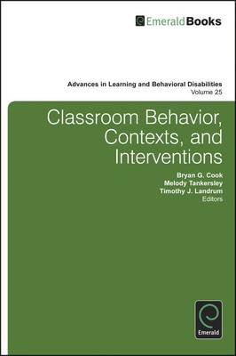 Classroom Behavior, Contexts, and Interventions (BOK)