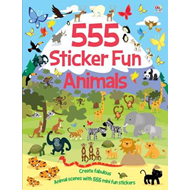 555 Sticker Fun Animals (BOK)