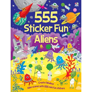 555 Sticker Fun Aliens (BOK)