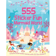555 Sticker Fun Mermaid World (BOK)