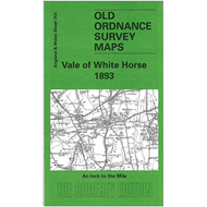 Vale of White Horse 1893: One Inch Map 253 (BOK)