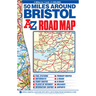 50 Miles Around Bristol Road Map (BOK)