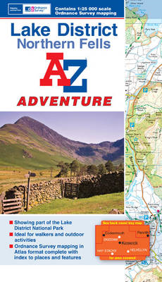 Lake District (Northern Fells) Adventure Atlas (BOK)